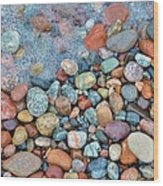 Lake Superior Stones 3 Wood Print