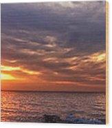 Lake Superior Sunset Panorama Wood Print