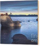 Lake Tahoe Bonsai Rock Wood Print