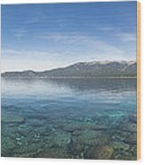 Lake Tahoe Calm Wood Print