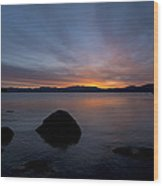 Lake Tahoe Dawn Wood Print