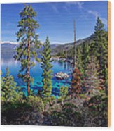 Lake Tahoe Eastern Shore Wood Print