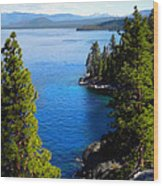 Lake Tahoe From The Rubicon Trail Wood Print