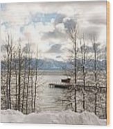 Lake Tahoe In Winter Wood Print by Denice Breaux