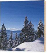 Lake Tahoe In Winter Wood Print