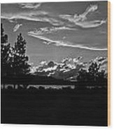 Lake Tahoe Just After Sunset Wood Print