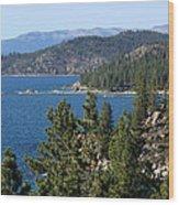 Lake Tahoe Nevada Wood Print by Aidan Moran