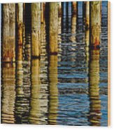 Lake Tahoe Reflection Wood Print