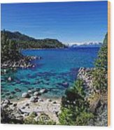 Lake Tahoe Springscape Wood Print by Scott McGuire