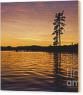 Lake Tahoe Sunset Wood Print