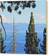 Lake Tahoe Tranquil Wood Print by Saya Studios
