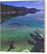 Lake Tahoe Waterscape Wood Print