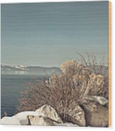 Lake Tahoe Winter Wood Print