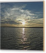 lake Tomiko Sunset Wood Print by Dianne  Lacourciere