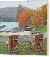 Lake Toxaway Marina In The Fall Wood Print