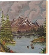 Lake Trek Wood Print