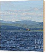 Lake Umbagog Choppy Waters Wood Print