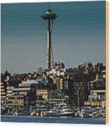 Lake Union Seattle Skyline Wood Print