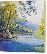 Lake View 2  Wood Print