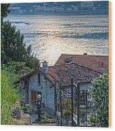 Lake View Down To Lake Como In Italy Wood Print