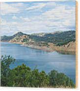 Lake View From Hwy 120 Rest Area Going Into Yosemite Np-ca- 2013 Wood Print