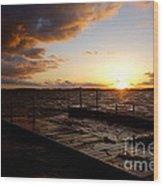 Lake Waconia Sunset Wood Print