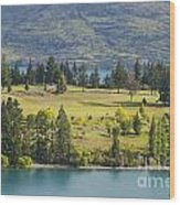 Lake Wakatipu And Queenstown Golf Course Wood Print