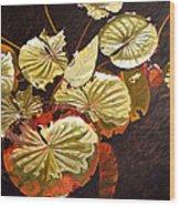 Lake Washington Lily Pad 11 Wood Print