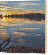Memorial Park Sunset Wood Print