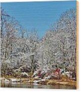 Lake Welch Snow Wood Print