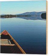 Lake Winnepasaukee Canoe Wood Print
