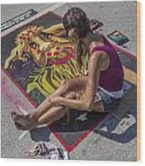 Lake Worth Street Painting Festival Wood Print