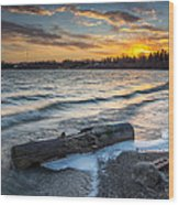 Lake Yankton Minnesota Wood Print by Aaron J Groen
