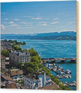 Lake Zurich Wood Print