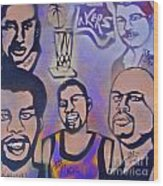 Lakers Love Jerry Buss 1 Wood Print by Tony B Conscious