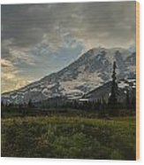 Lakes Trail Soaring Skies Wood Print