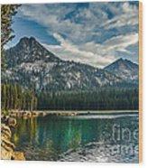 Lakeshore Wood Print by Robert Bales