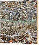Lakeshore Rocks 2 Wood Print
