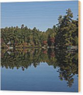 Lakeside Cottage Living - Reflecting On Relaxation Wood Print