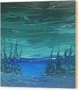 Lakeside Dusk No. 2 Wood Print