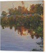 Lakeside Evening Wood Print