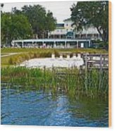 Lakeside Inn Wood Print