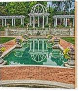 Lakeside Park Wedding Pavilion II Wood Print by Gene Sherrill