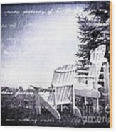 Lakeside Wood Print