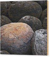 Lakeside Rocks At Lake Annette Wood Print