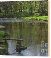 Lakeside Seat. Wood Print
