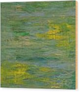 Lakeside Sun Wood Print