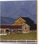 Lakeville Barn Wood Print by Bill Gallagher