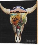 Lakota Bison Skull Wood Print
