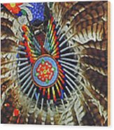 Lakota Feather Dance Wood Print